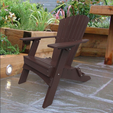 Malibu Outdoor Living Hyannis Folding Adirondack Chair - Cherry
