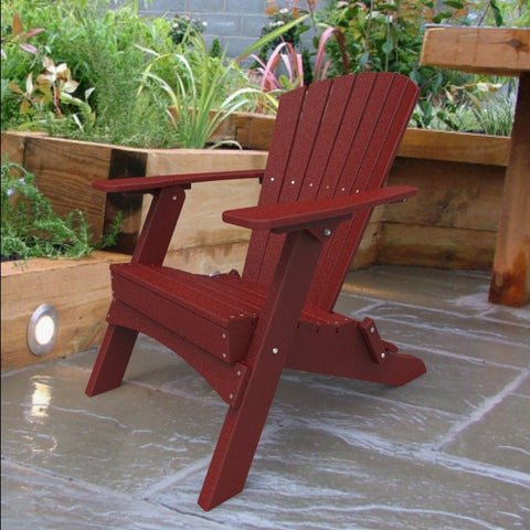 Malibu Outdoor Living Hyannis Folding Adirondack Chair - Red
