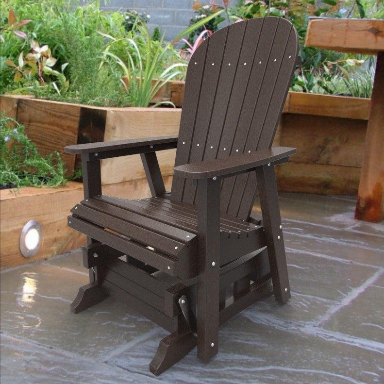 Malibu Outdoor Living Jamestown Adirondack Single Glider - Dark Brown