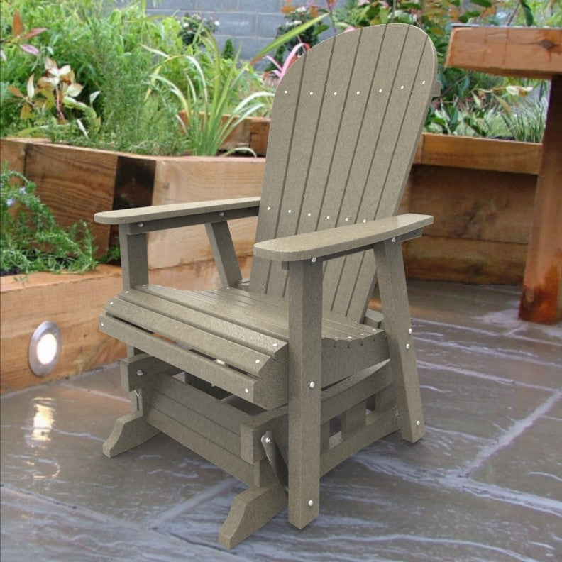Malibu Outdoor Living Jamestown Adirondack Single Glider - Sand
