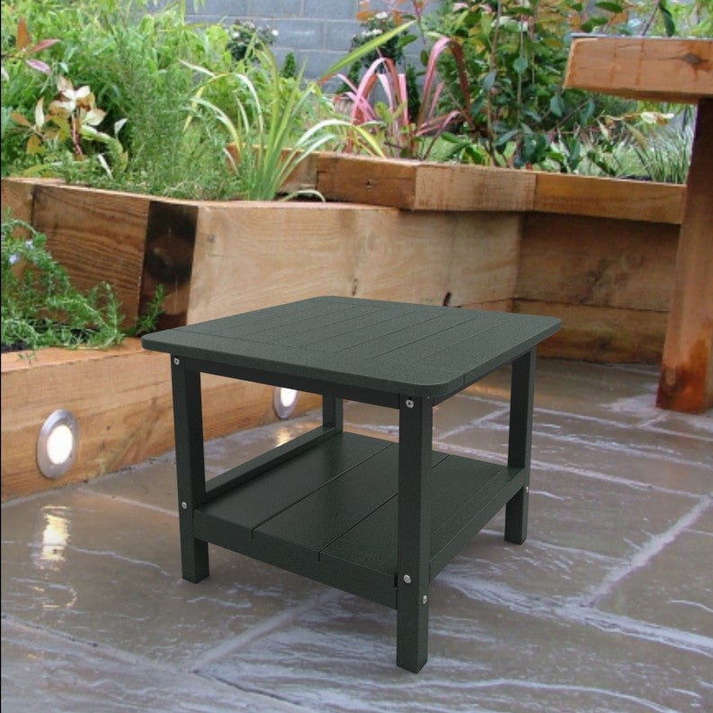 Malibu Outdoor Living Square End Table - Turf Green