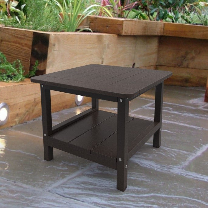 Malibu Outdoor Living Square End Table - Dark Brown