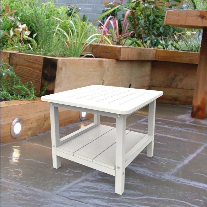 Malibu Outdoor Living Square End Table - White