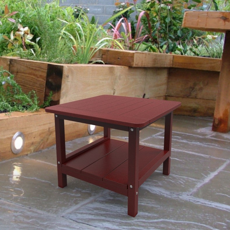 Malibu Outdoor Living Square End Table - Red