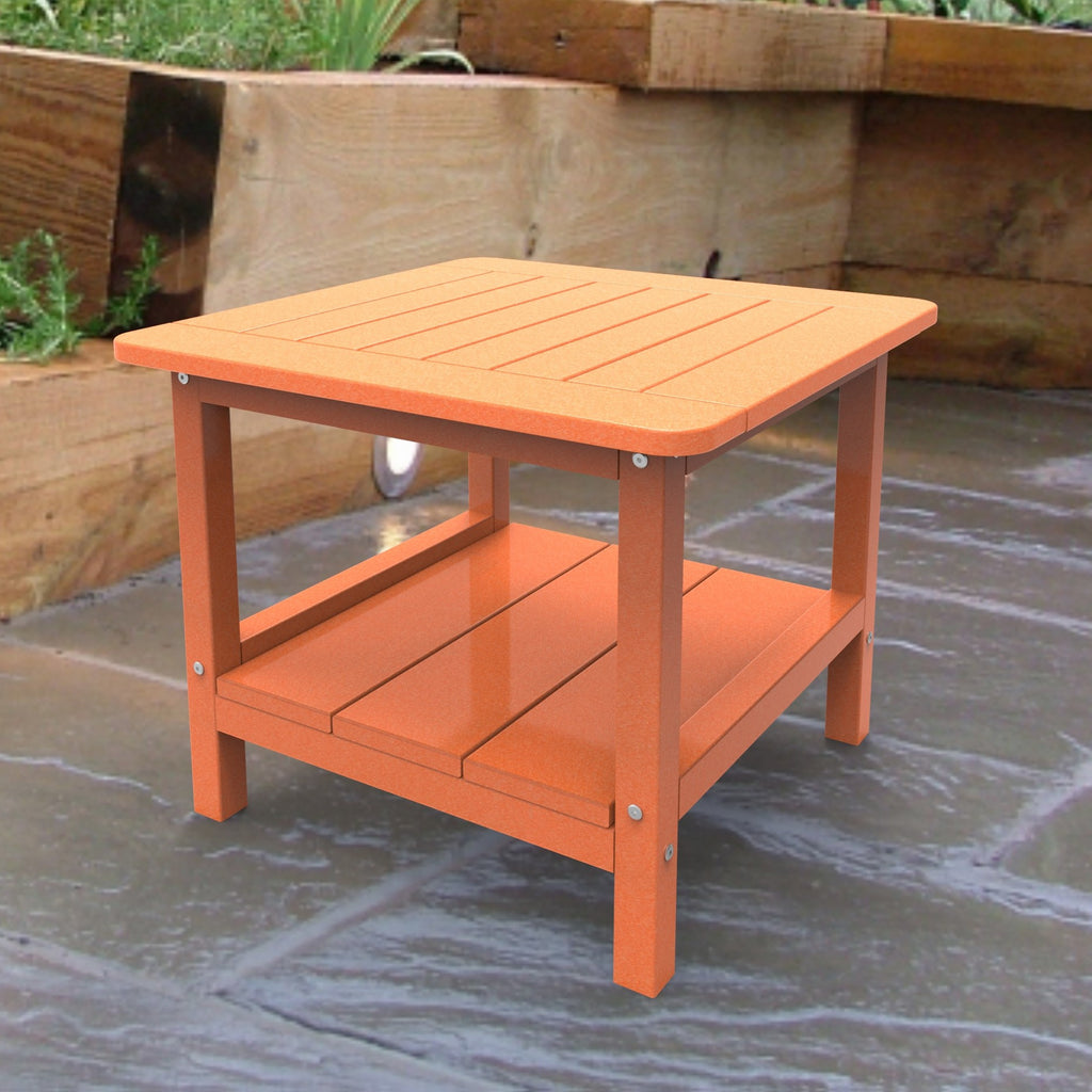 Malibu Outdoor Living Square End Table - Tangerine