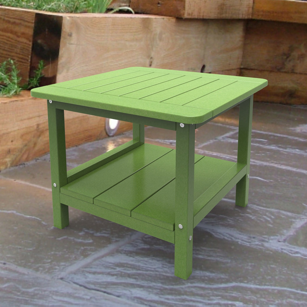 Malibu Outdoor Living Square End Table - Lime