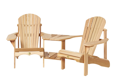 Bear Chair Angled Cedar Tete A Tete Kit