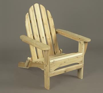 Rustic Natural Cedar Adirondack Chair With Ottoman - Natural