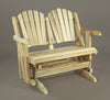 Rustic Natural Cedar Loveseat Glider - Natural