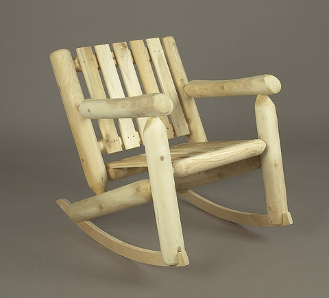 Rustic Natural Cedar Adirondack Low Back Rocker - Natural