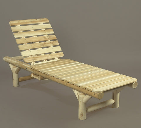Rustic Natural Cedar Adirondack Chaise Lounge - Natural
