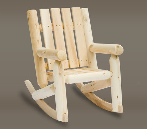 Rustic Natural Cedar Kids Junior Adirondack Rocker - Natural
