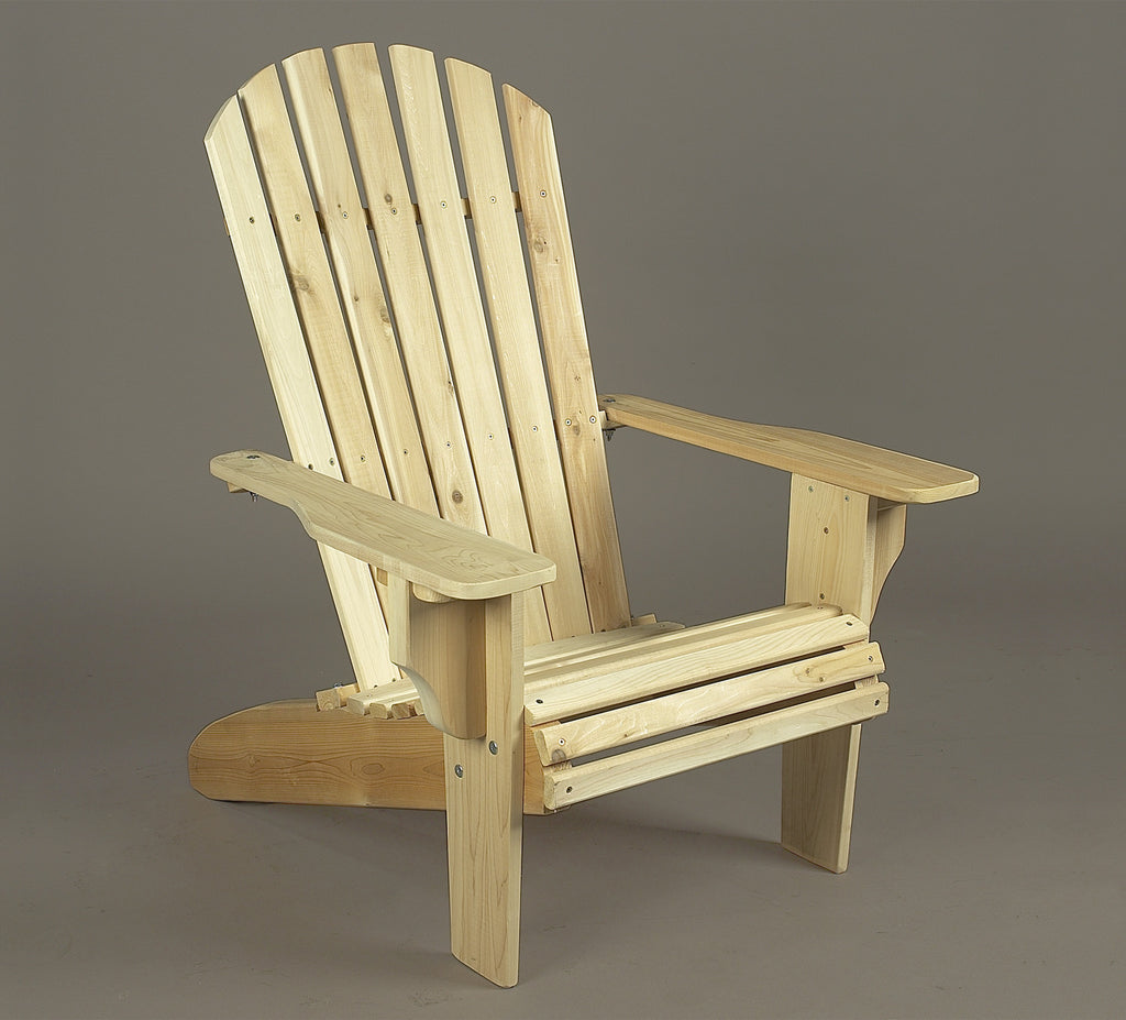 Rustic Natural Cedar Oversized Adirondack Chair With Ottoman - Natural