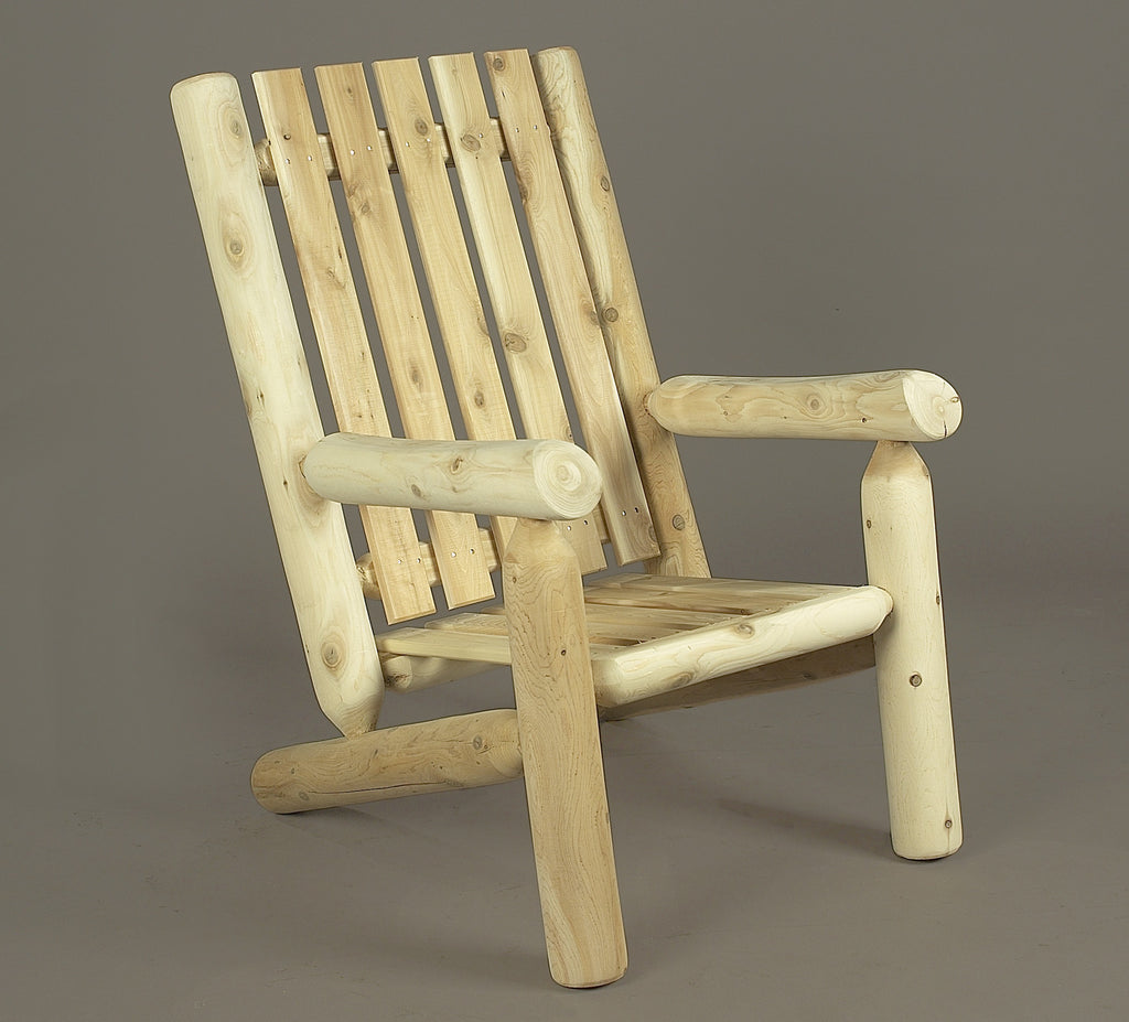 Rustic Natural Cedar Adirondack High Back Chair U0026 Ottoman   Natural