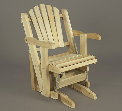 Rustic Natural Cedar Pacific Glider - Natural