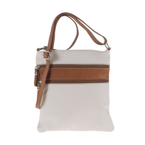 Angel Shoulder Bag (White/Tan)