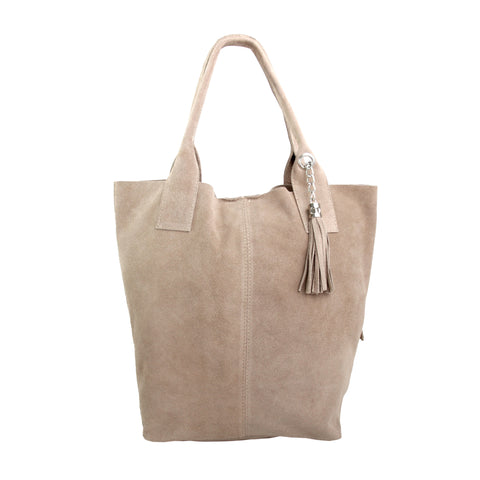 Robyn Suede Italian leather Hobo (Taupe)