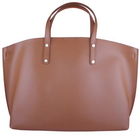 Finsbury Leather Tote (Tan)