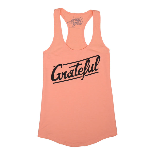 Women's Flow Racerback Tank // Peach