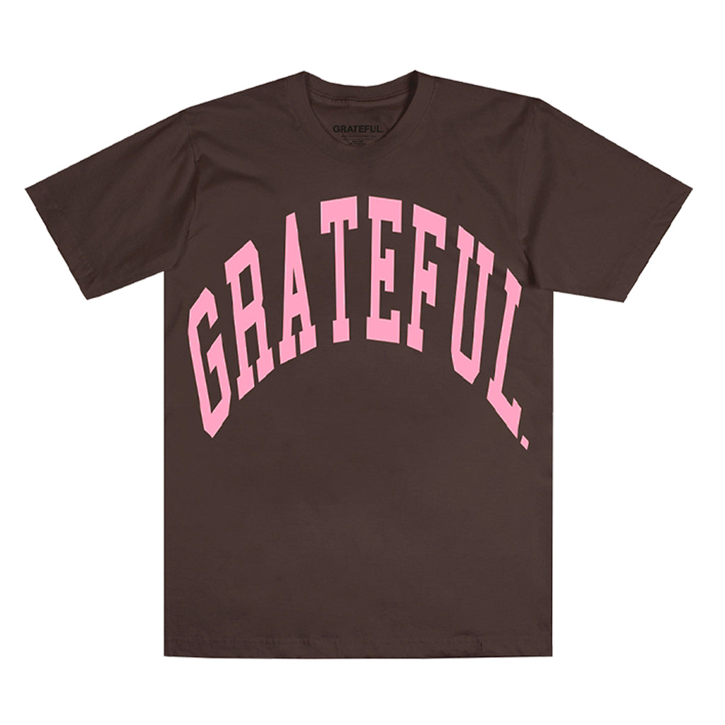 Arched Logo Tee Chocolate (Oversized Print)