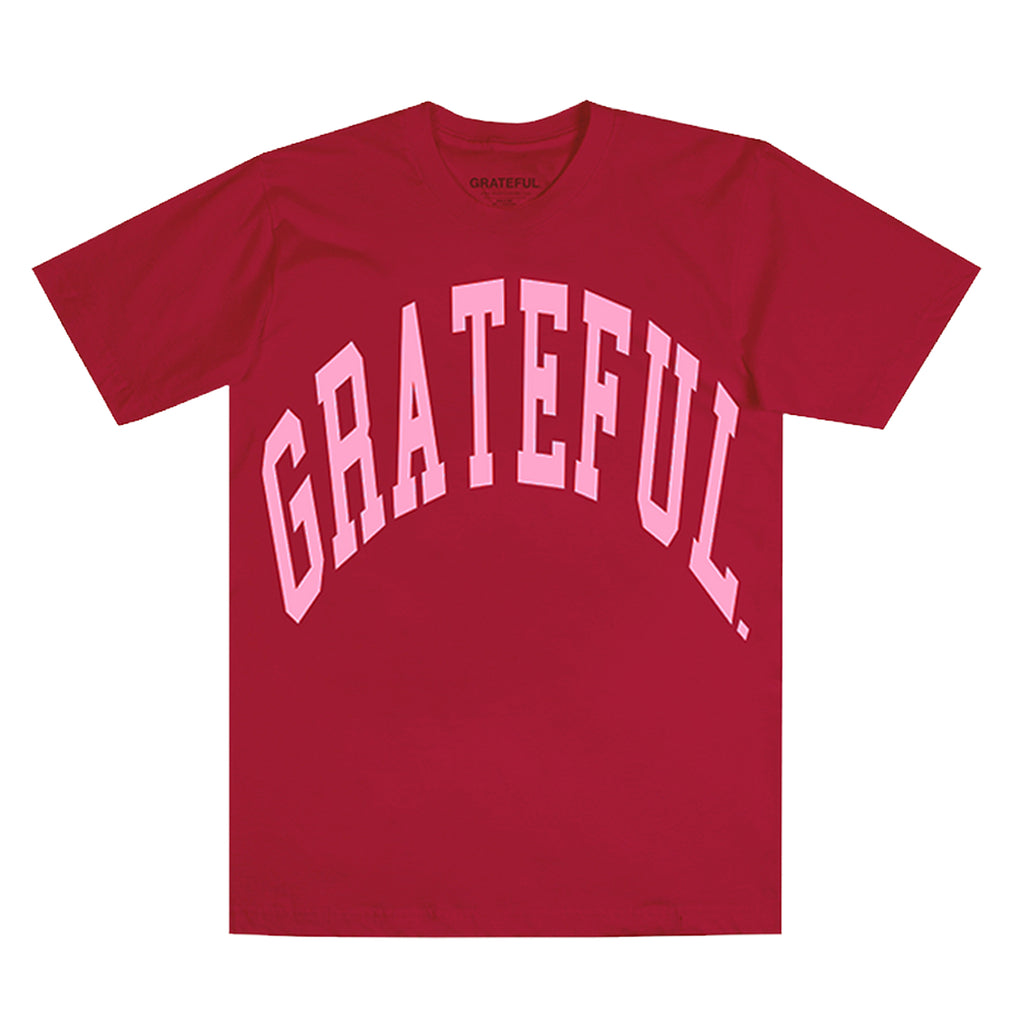 Arched Logo Tee Rose (Oversized Print)