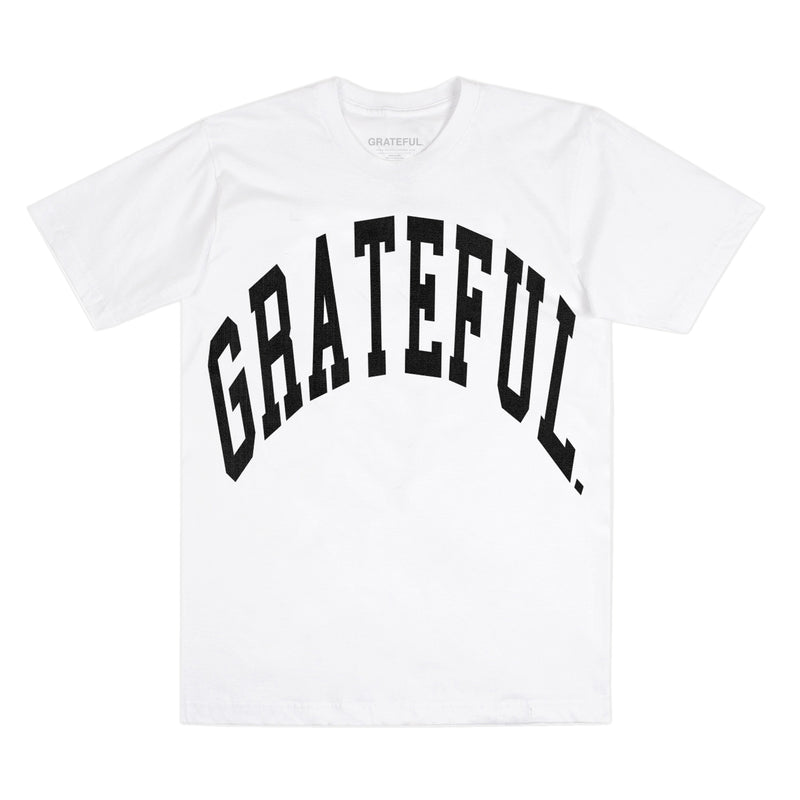 Arched Logo Tee White (Oversized Print)