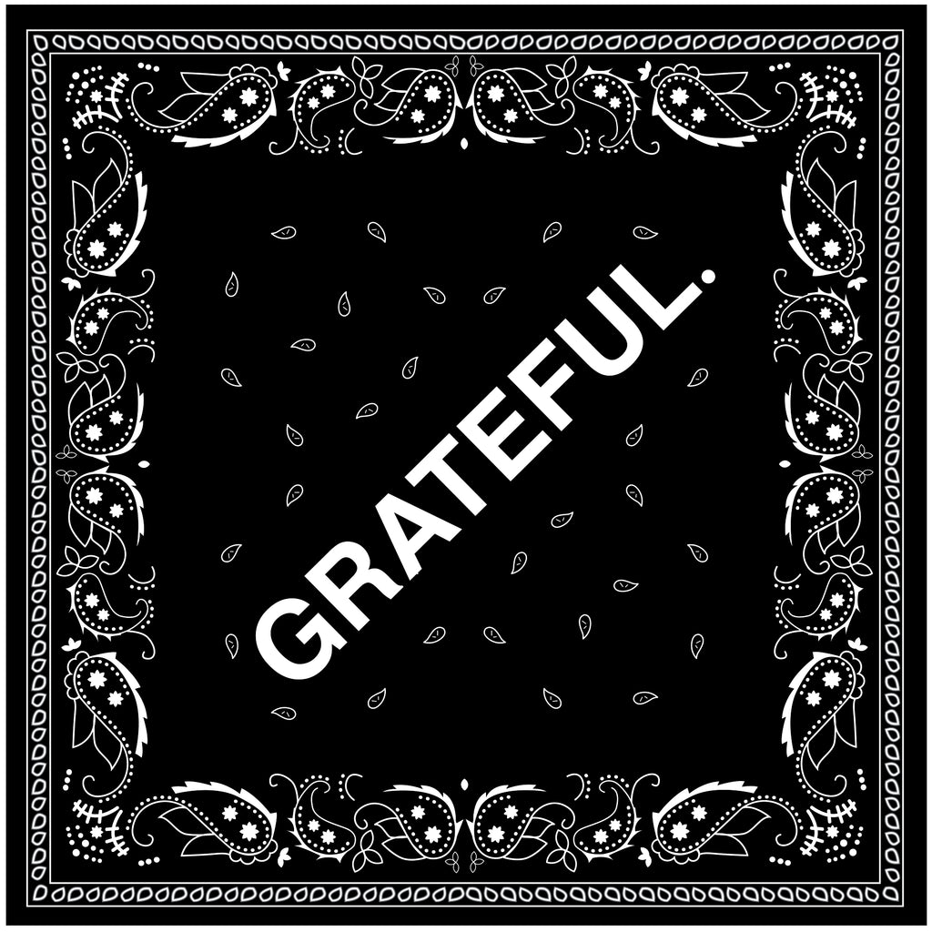 GRATEFUL. Paisley Bandana