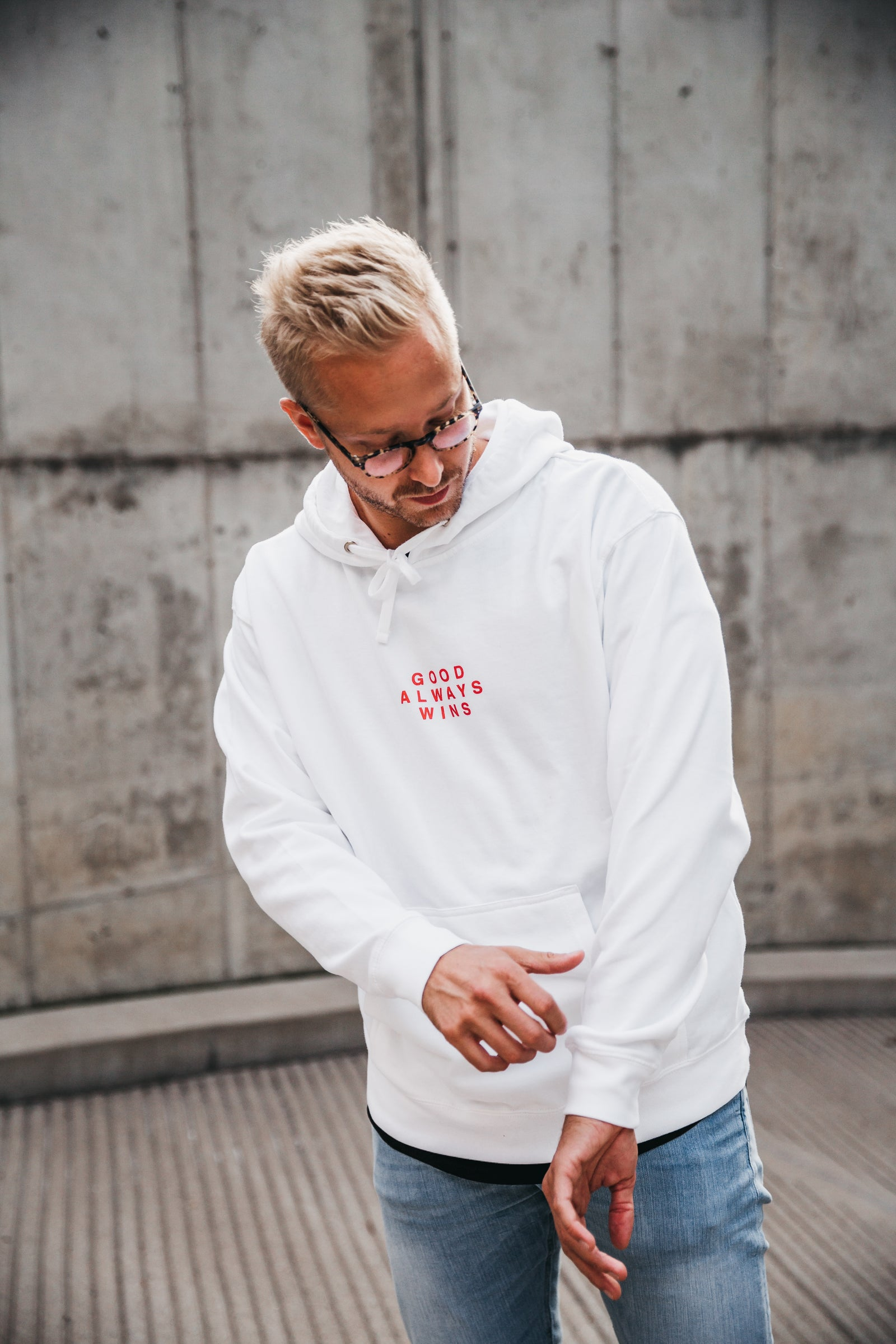 Good Always Wins Hoodie [White]