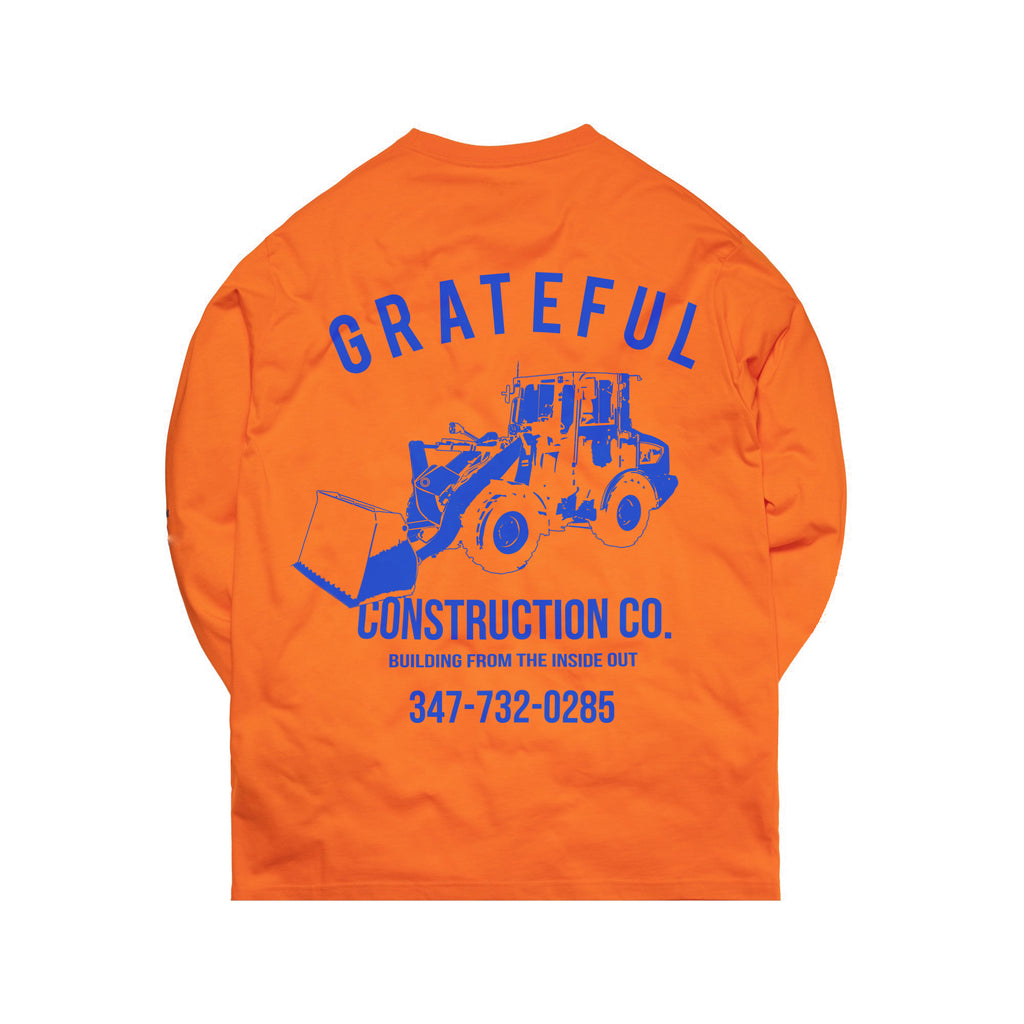 Grateful Construction Longsleeve Tee [Neon Orange]