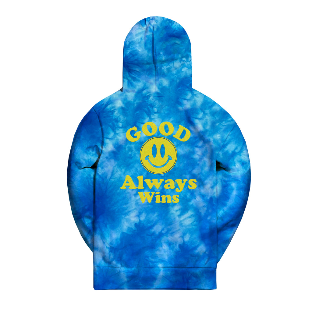 Good Mood Hoodie - Blue Tie Dye