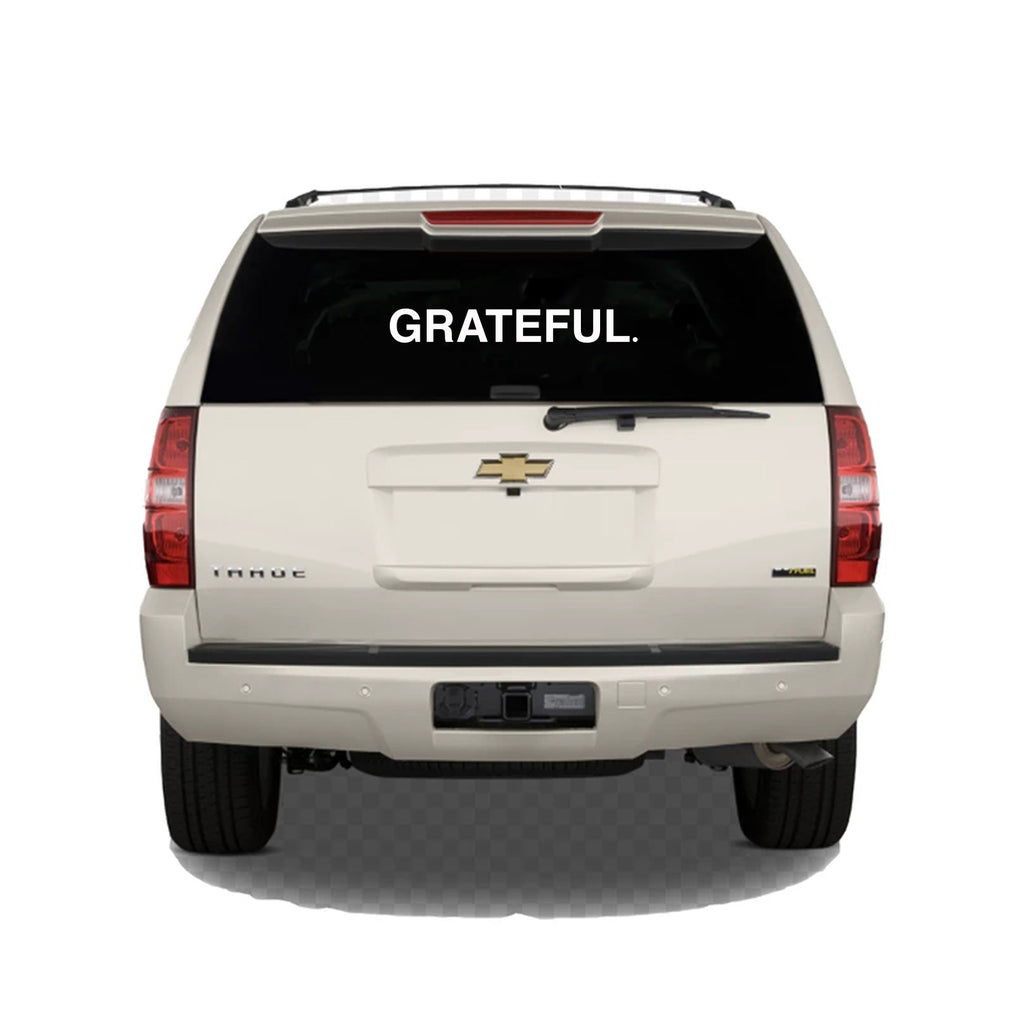 GRATEFUL Bar Logo Vinyl Sticker