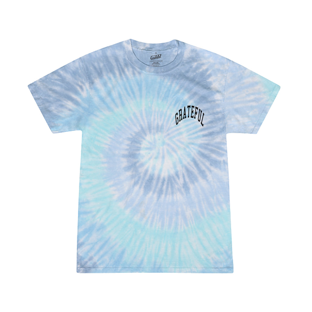Arched Tie Dye Flock Tee [Blue]