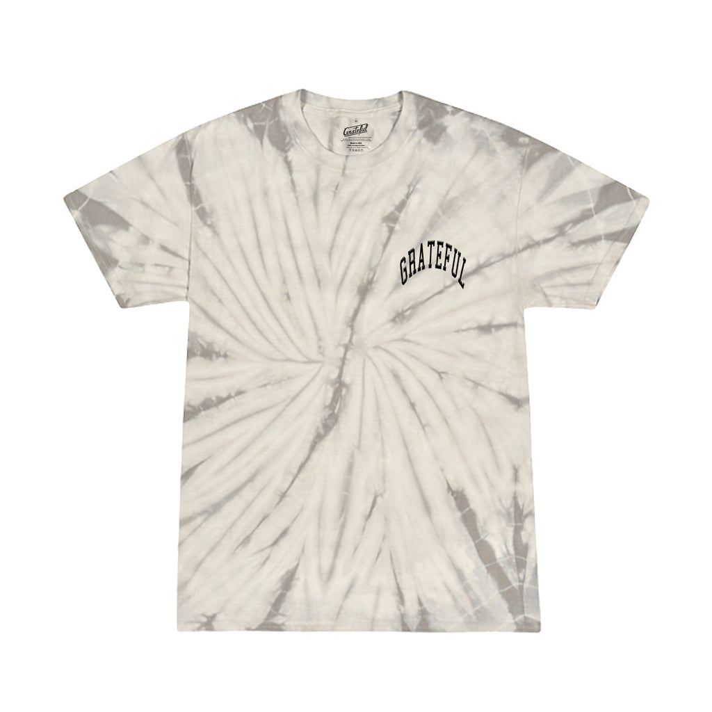 Arched Tie Dye Flock Tee [Silver]