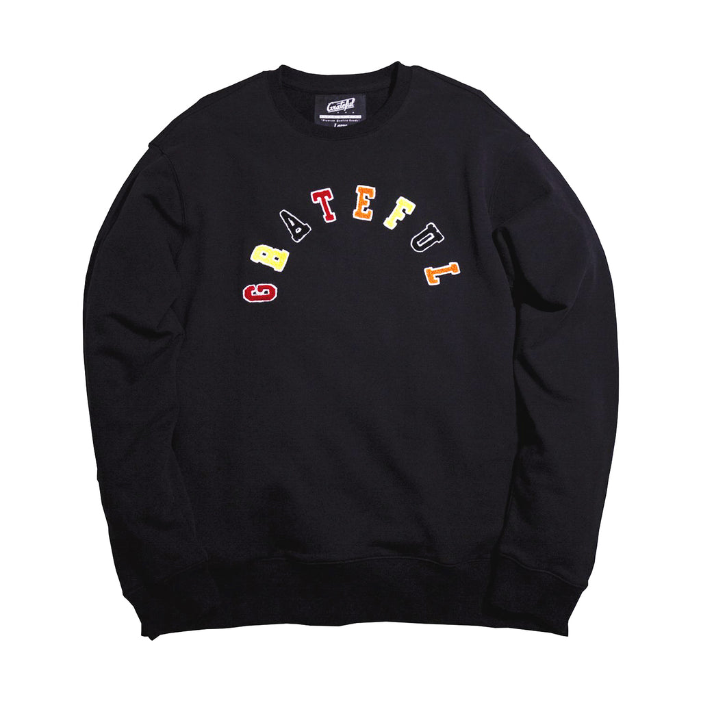 Tribeca Grateful Arched Crew Neck [Black]