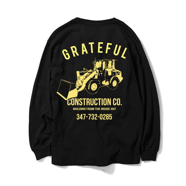 16941ab97 Grateful Construction Longsleeve Tee  Black