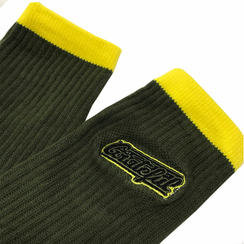 Tribeca Embroidered Socks - Green