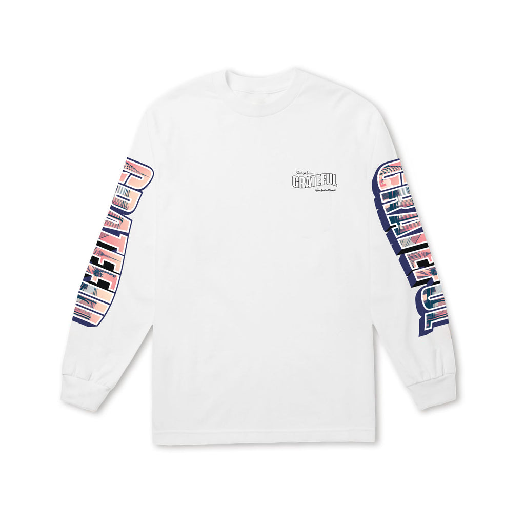Greetings Longsleeve Tee (White)