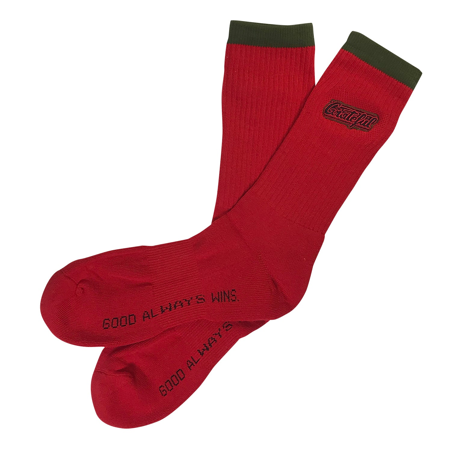 Tribeca Embroidered Socks - Red