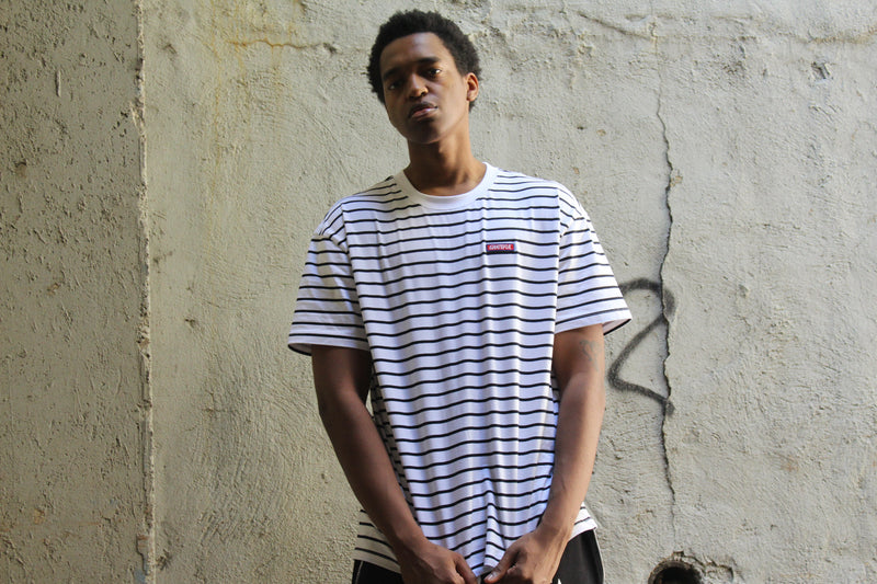 Striped Tee White/Black