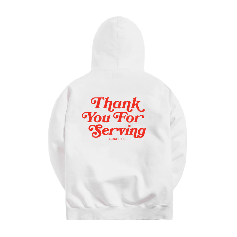 Thank You For Serving Hood (White)