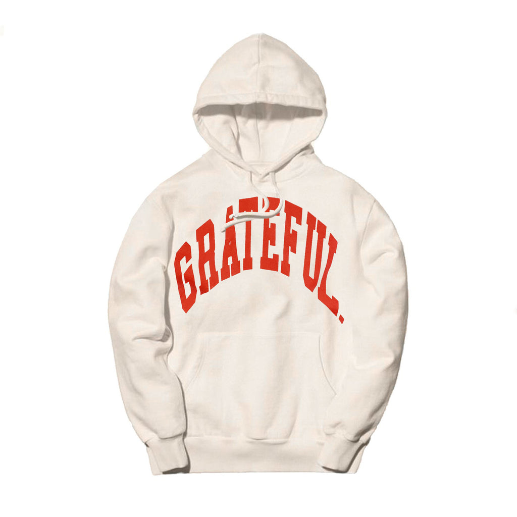 Arched Logo Bone Hood // Infrared (Oversized Print)