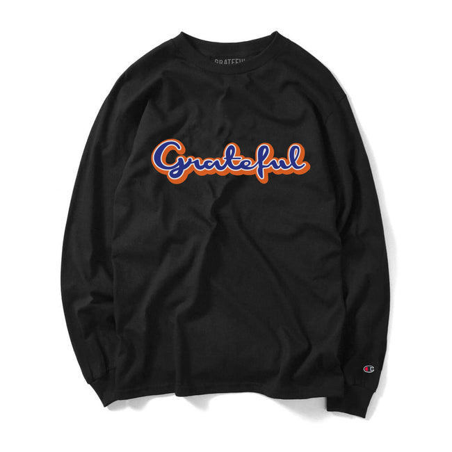Grateful Champion Script 2.0 Long Sleeve Tee // Black