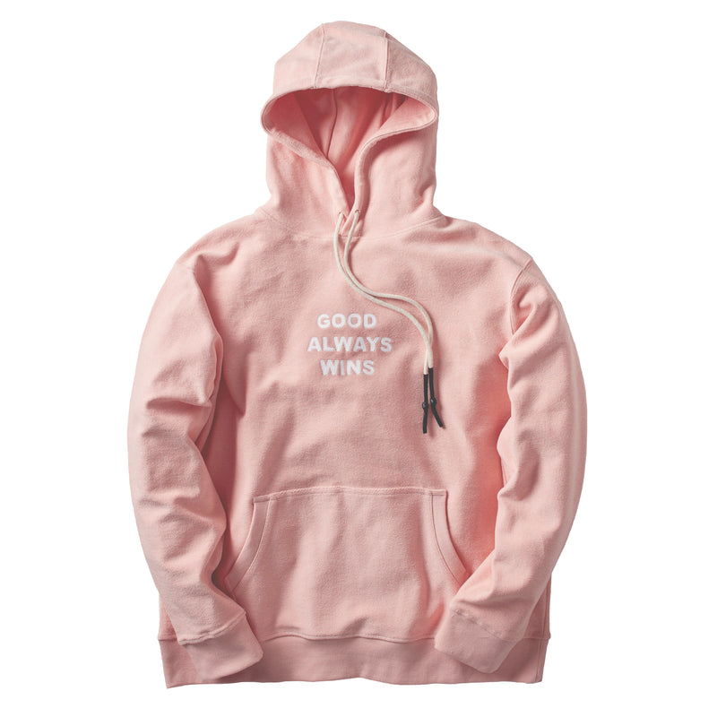 Good Always Wins Chain Link Hoodie Pink