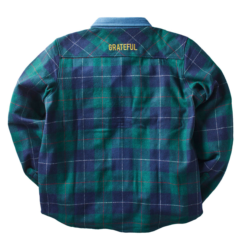 Rivera Flannel Button Up L/S Green/Navy