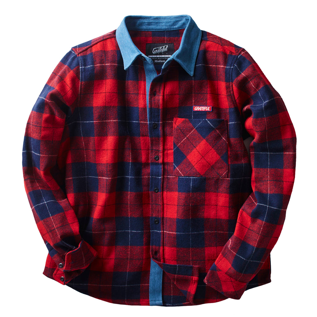 Rivera Flannel Button Up L/S Red/Navy