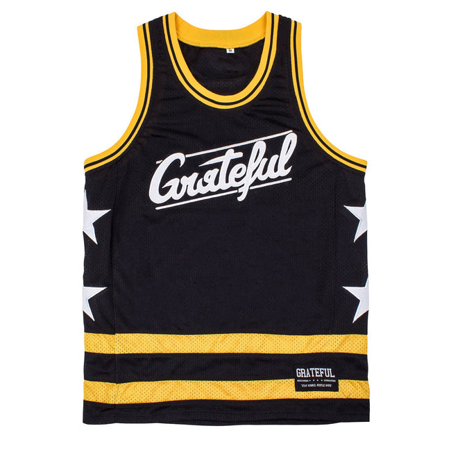 Grateful Flow Basketball Jersey // Black + Yellow