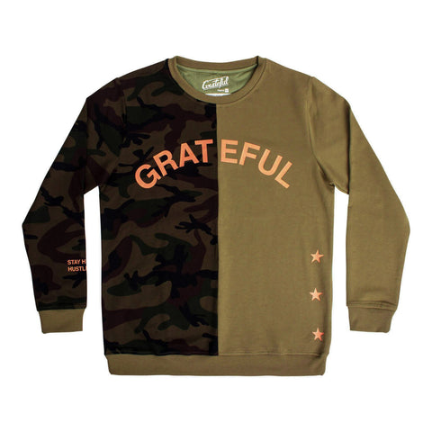 Grateful x Champion Pull Over Hoodie - Gold/Black