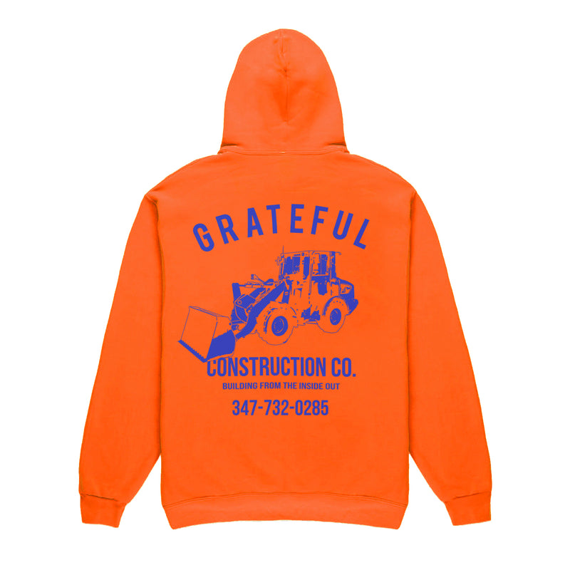 Grateful Construction Hoodie [Neon Orange]