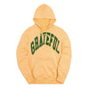 Arched Logo Peach Hood // Green  (Oversized Print)