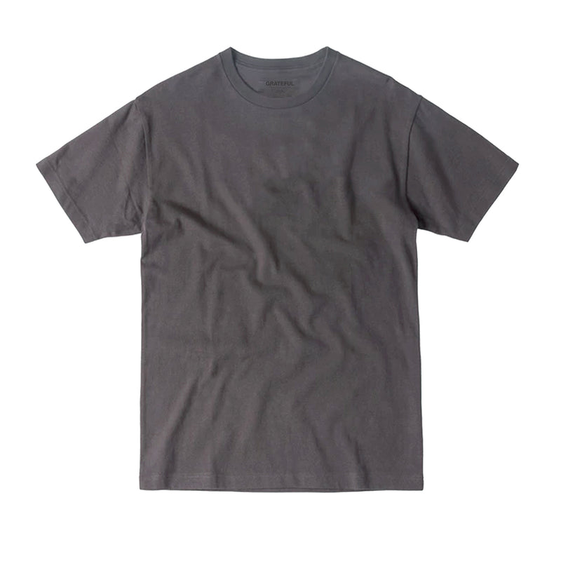 """STR"" Washed Charcoal Tee"
